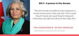 امروز، سوم ماه می، لایحه شهروندی جدید کانادا در مجلس سنا به تصویب رسید.