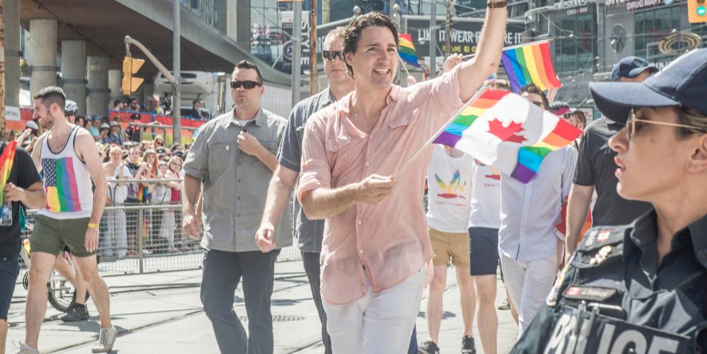 حضور جاستین ترودو برای دومین بار در Toronto Pride Prade